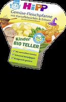 Hipp Kinder Bio Teller Gemüse-Fleischpfanne mit Kartoffelwürfeln&Erb.-Овощная сковорода с мясом с 1 года, 250г