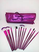Набор кистей для макияжа MAC (12 штук) розовый