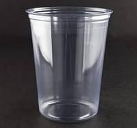 Стакан пластиковый с плоской крышкой 400 мл, фото 1