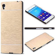 Чехол Motomo Line Series Metal + PC для Sony Xperia Z3 Plus / Z4 (Dual) E6533 Gold
