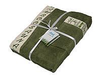 Подарочный набор махровых полотенец для сауны Petek La Bella Bamboo мужской, 3 предмета, 100% бамбук