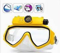 Маска для погружения под воду с камерой на 5 мегапикселей с диодной вспышкой, встроенной памятью на 4гб.