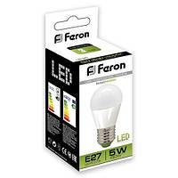 Светодиодная LED лампа шар Feron LB95 5W Е14/Е27 (для дома, дачи, офиса) 4000К (нейтральный белый), Е27