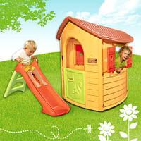Игровой домик Лесной с горкой Smoby 310151