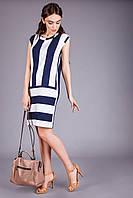 Летнее легкое платье из натуральной вискозы т.синий