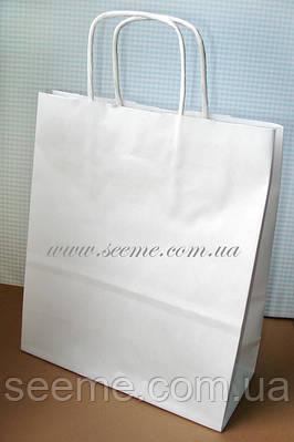 Пакет крафт белый 180х205х80 мм.