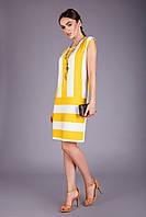 Летнее легкое платье из натуральной вискозы желтый