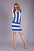 Летнее легкое платье из натуральной вискозы электрик