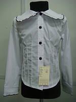 Шкільна блузка для дівчинки: Ворот чорний