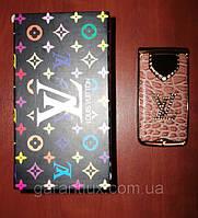 Гламурный телефон раскладушка Louis Vuitton LX c 130 (2 сим карты) луи витон
