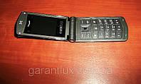 Стильный телефон-раскладушка Nokia V668 корпус металл (2 сим карты)