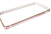 Бампер металлический с застежкой на IPhone 6 plus/6s plus Rose