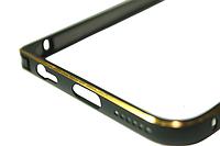 Бампер металлический с застежкой на IPhone 5/5s/SE Black
