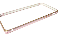 Бампер металлический с застежкой на IPhone 5/5s/SE Rose