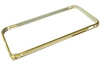 Бампер металлический с застежкой на IPhone 5/5s/SE Gold