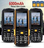 Противоударный и водонепроницаемый мобильный телефон на 3 сим-карты Suppu A9