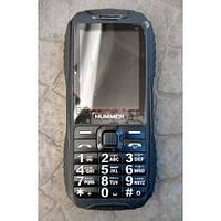 Противоударный защищенный телефон с большой батареей 8800Mah Hummer H1 на 2 Sim +Фонарь