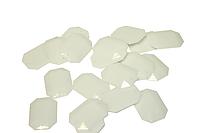 Камни пришивные (Восьмиугольник 15х22мм) 20шт. Белый