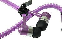 Наушники вакуумные на змейке Фиолетовые
