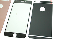 Пленка (стекло) цветная 2-х стор. IPhone 5/5s/SE Black matt