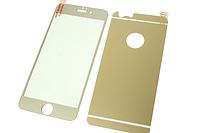 Пленка (стекло) цветная 2-х стор. IPhone 5/5s/SE Gold matt