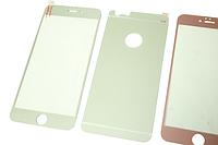 Пленка (стекло) цветная 2-х стор. IPhone 5/5s/SE Silver matt