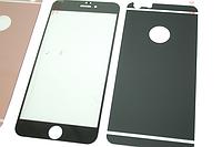 Пленка (стекло) цветная 2-х стор. IPhone 6 plus/6s plus Black matt