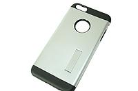 Чехол на IPhone 5/5S/SE (задняя крышка с подставкой) Серебряный