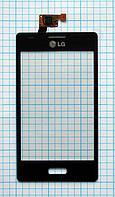 Тачскрин сенсорное стекло для LG E612 Optimus L5 black