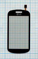 Тачскрин сенсорное стекло для LG GT350 black