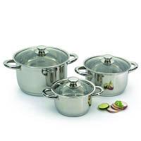 Набор посуды Vision premium со стекл. крышками 6 пр. 1106000 BergHOFF