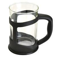 Чашка для кофе/чая стеклянная, в черной подставке, (2 шт.) 1106831 BergHOFF
