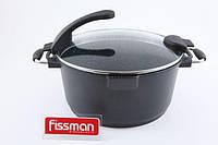 FISSMAN 4566 Кастрюля SIROCCO 28 см со стеклянной крышкой и индукционным дном