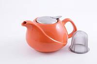 FISSMAN 9205 Заварочный чайник 750 мл с ситечком ОРАНЖЕВЫЙ