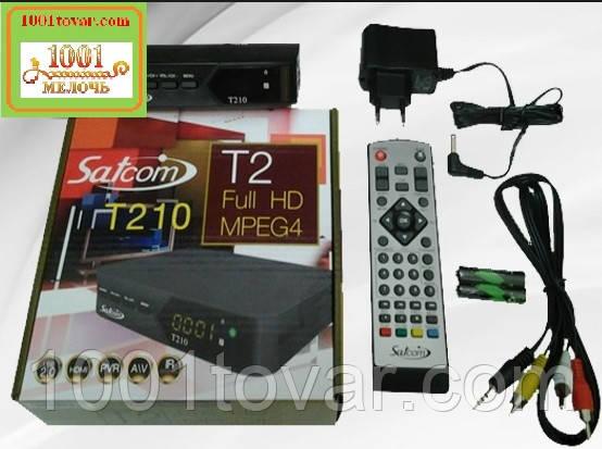 Satcom T210. Эфирный цифровой FTA приемник стандарта DVB-T/T2, PVR с функцией записи
