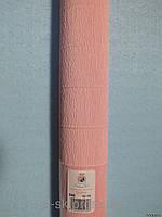 Бумага гофрированная, 548 светло-розовая