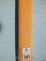 Бумага гофрированная, 576 светло-оранжевая