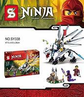 "Конструктор Senco Ninja (аналог Lego Ninjago) SY338 ""Битва с Драконом"", 387 дет"