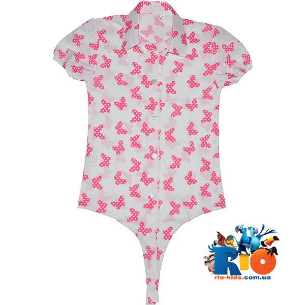 """Детская блузка-боди """"Бабочка"""" , для девочки от 5-8 лет"""