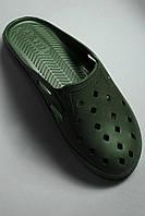 Шлепки мужские зелёные