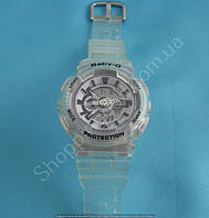 Детские часы Casio Baby G BA-111 5338 (113954)  светолбежевый серый белый водонепроницаемые с календарем