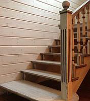 Лестница из массива ясеня под ключ