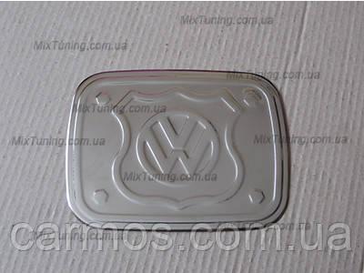 Накладка на люк бензобака Volkswagen CADDY (Фольксваген кадді), нерж.