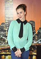 Блузка рубашка женская с галстуком