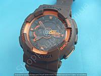 Детские часы Casio BabyG BA-111 5338 (113958) коричневые с оранжевым водонепроницаемые с календарем