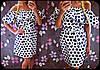 Платье в горошек с воланом вокруг горловины, фото 3