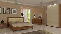 Спальня Белла Глянець Ваніль - Вишня Бюзум, фото 1