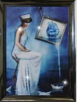 Романтическая картина из страз Морская дама