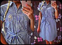 "Платье-рубашка ""морячка"""