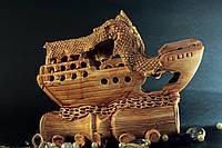 Аквариумная фигура Корабль на амфоре
